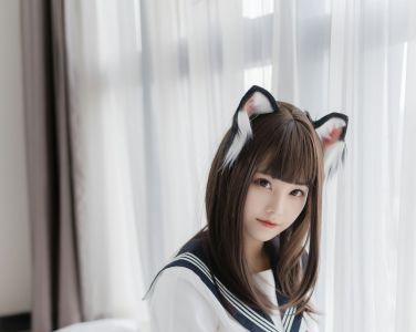萌系小姐姐蜜汁猫裘 - 猫耳JK[40P]