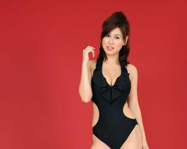 [RQ-STAR美女] NO.0043 Airi Nagasaku 永作あいり Swim Suits - Black[129P]
