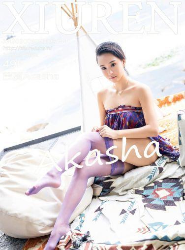 [XiuRen秀人网] 2020.09.09 No.2544 蓝夏Akasha 紫色花衣[43P]