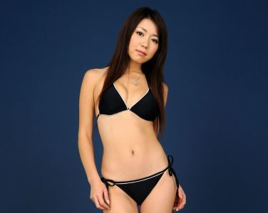 [RQ-STAR美女] NO.00111 Keiko Inagaki 稲垣慶子 Swim Suits - Black[100P]
