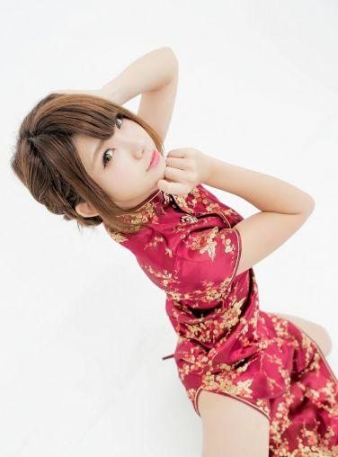 中華娘娘之红色旗袍与美腿高跟[27P]
