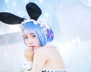 [Cosplay]洛丽塔大哥 - 蕾姆兔女郎[17P]