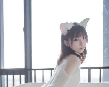 [喵糖映画]VOL.027 kitaro_绮太郎 白丝猫耳[41P]