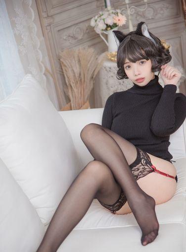 [Cosplay][雯妹不讲道理] 黑猫内衣[31P]