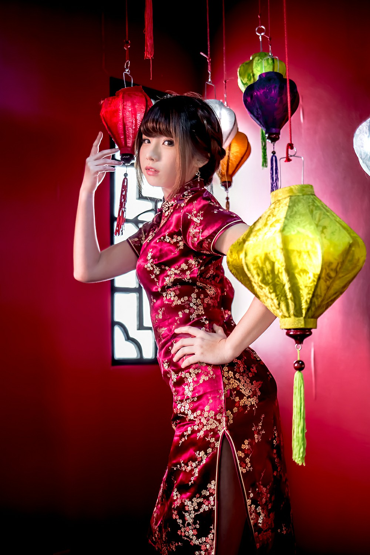 中華娘娘之红色旗袍与美腿高跟[27P] 其他套图 第11张