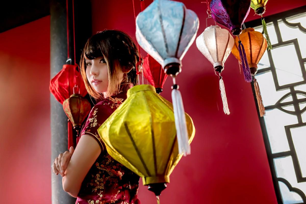中華娘娘之红色旗袍与美腿高跟[27P] 其他套图 第18张