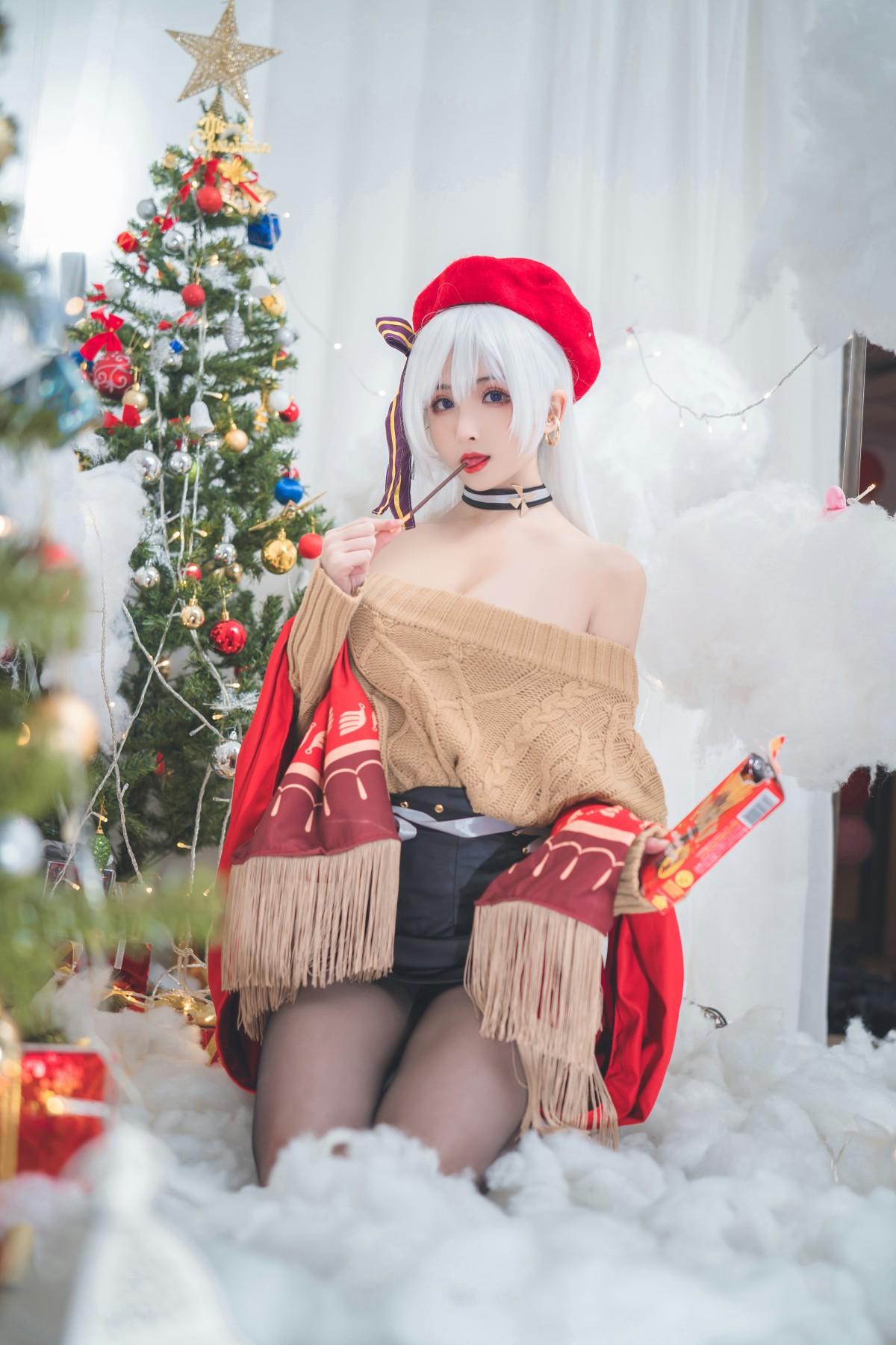 [Cosplay]rioko凉凉子 贝尔法斯特 圣诞装[24P] 角色扮演 第2张