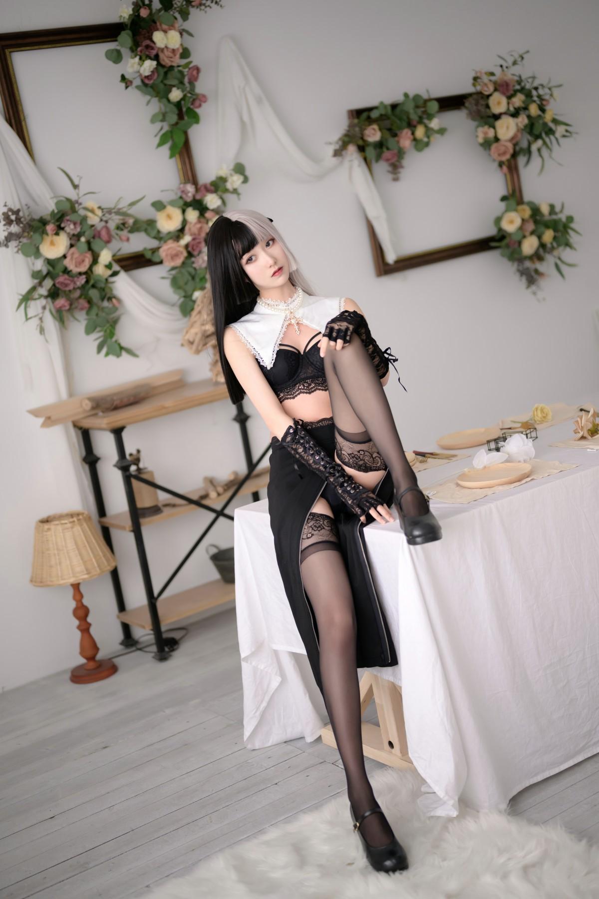 萌系小姐姐木绵绵OwO 黑白修女[40P] 其他套图 第3张