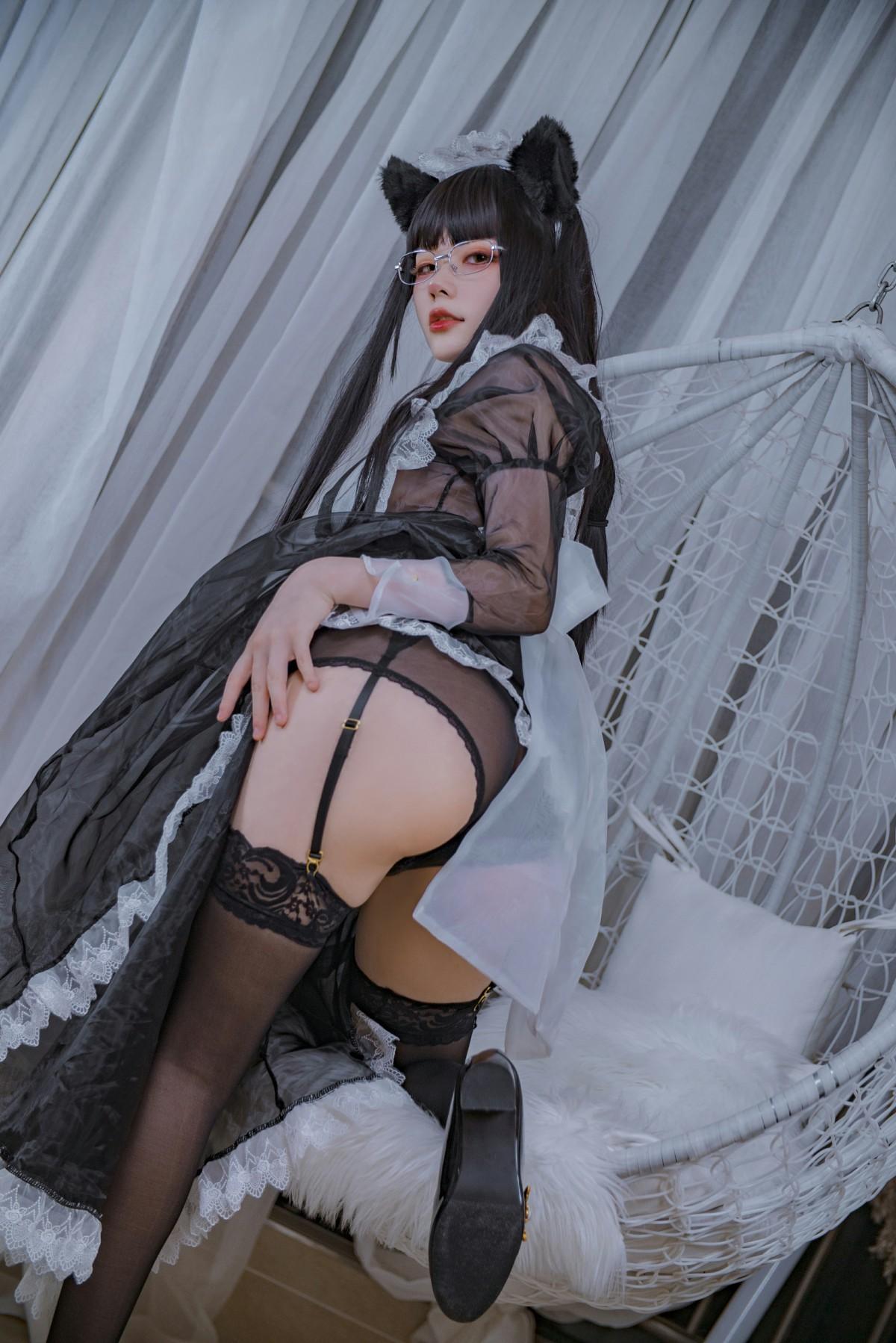 起司块wii写真 黑色透明女仆[44P] 其他套图 第4张