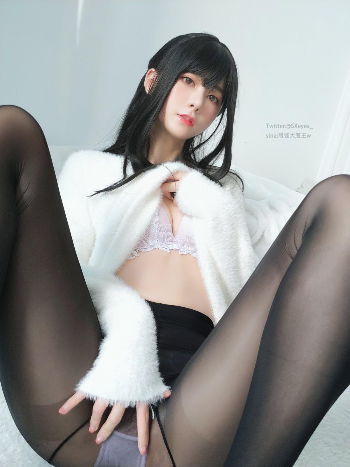 萌妹子眼酱大魔王w - 毛衣黑丝