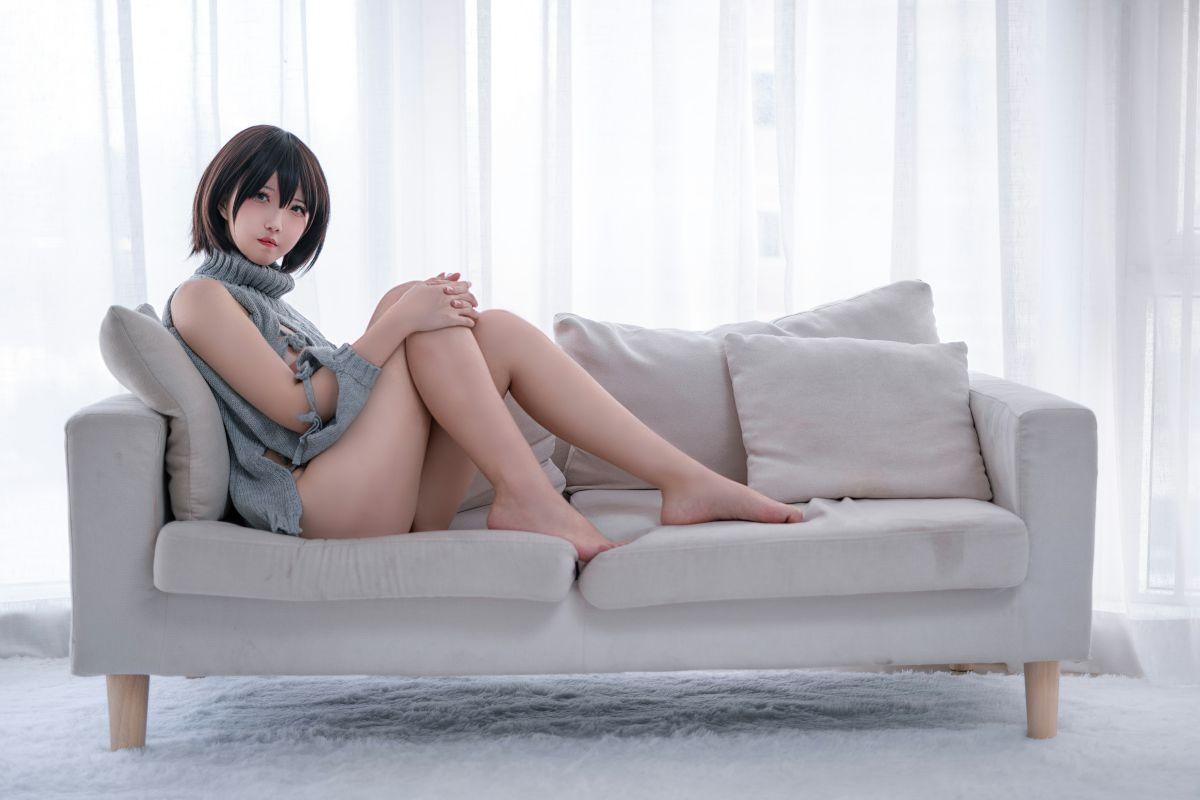 鬼马少女阿薰kaOri 露背毛衣[20P] 其他套图 第3张