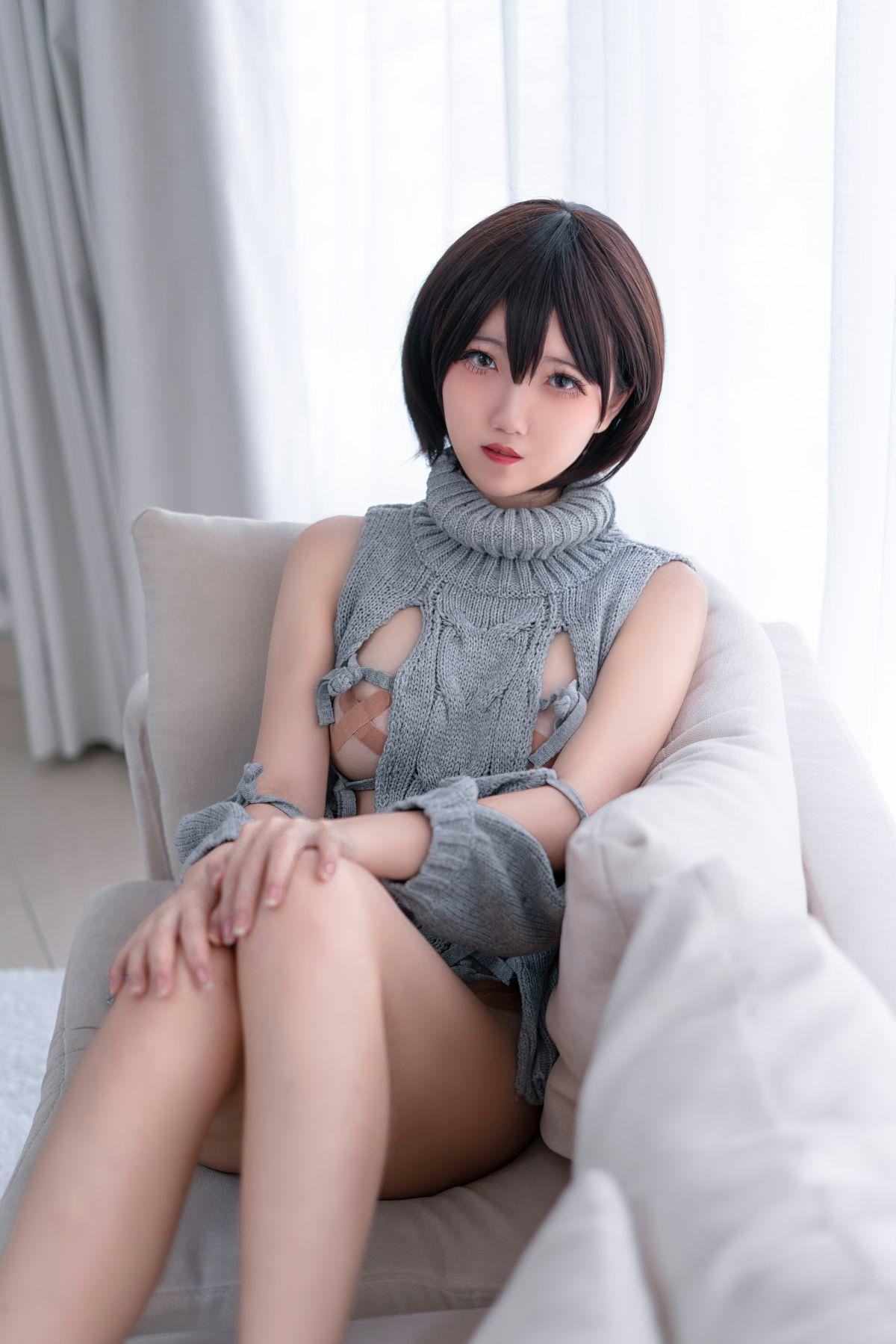 鬼马少女阿薰kaOri 露背毛衣[20P] 其他套图 第4张