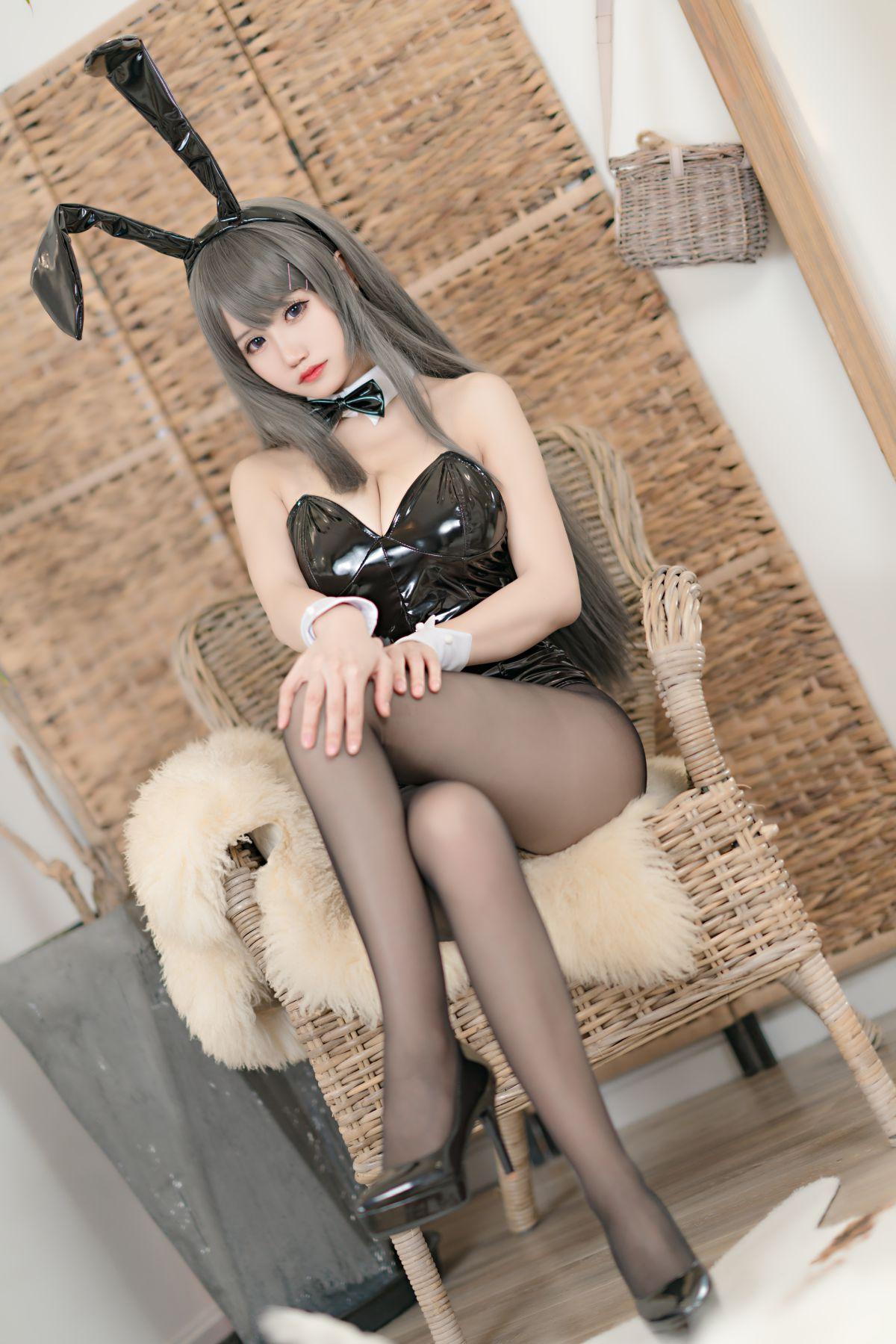动漫博主小仓千代w 麻衣兔女郎[24P] 其他套图 第3张