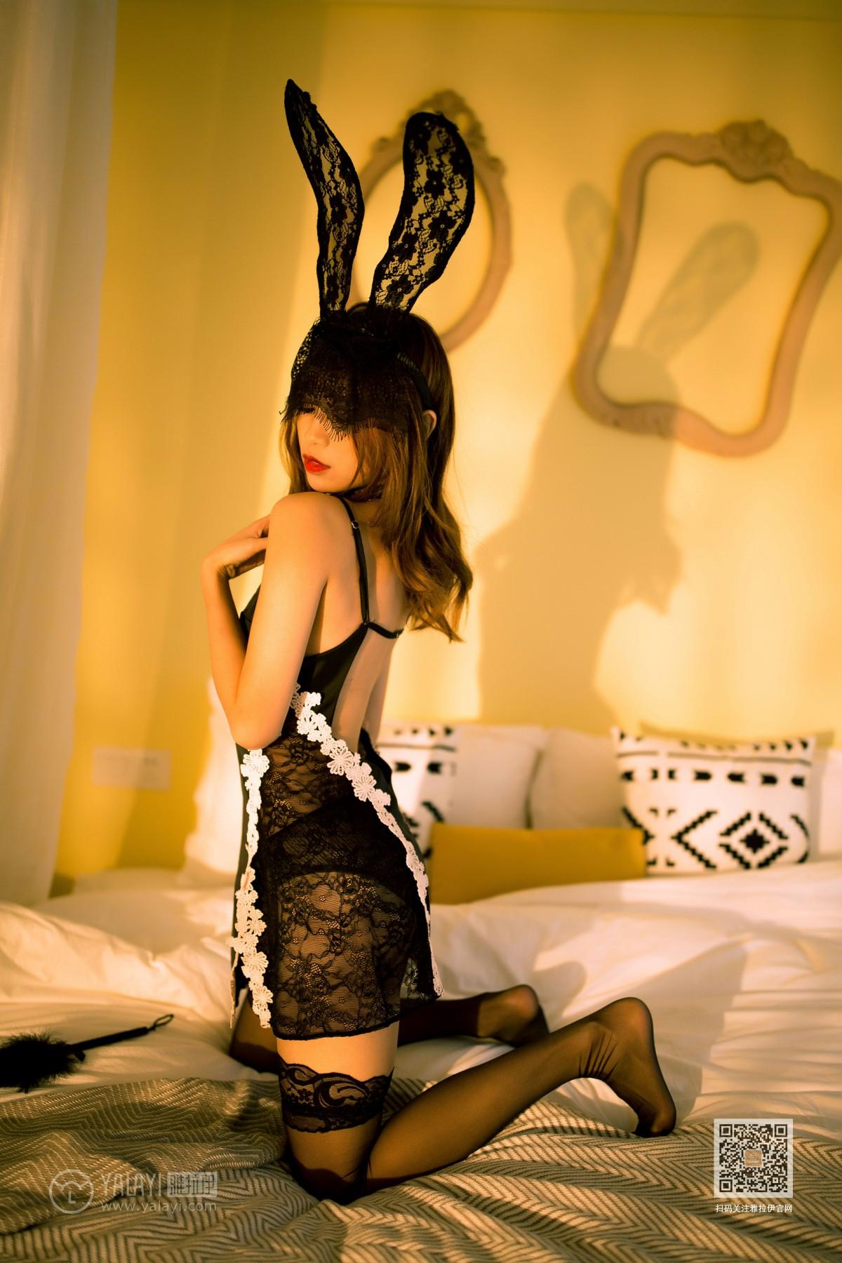 [YALAYI雅拉伊] 2020.02.12 Y541 丽雅 蕾丝兔女郎 第4张
