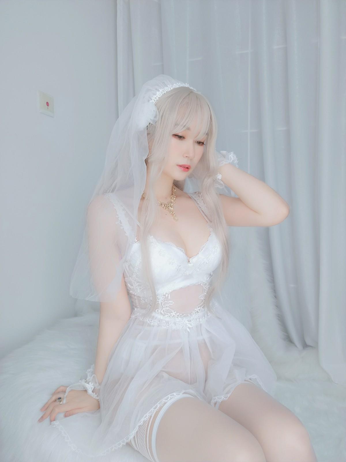 Coser小姐姐白银 – 纯白花嫁 第3张