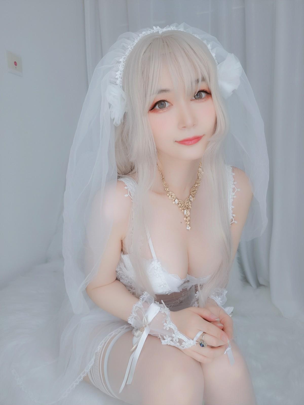 Coser小姐姐白银 – 纯白花嫁 第4张