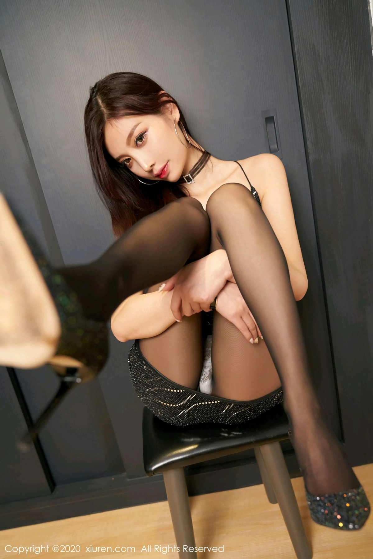 [XiuRen秀人网] 2020.09.03 No.2523 杨晨晨sugar 极致黑丝 第3张