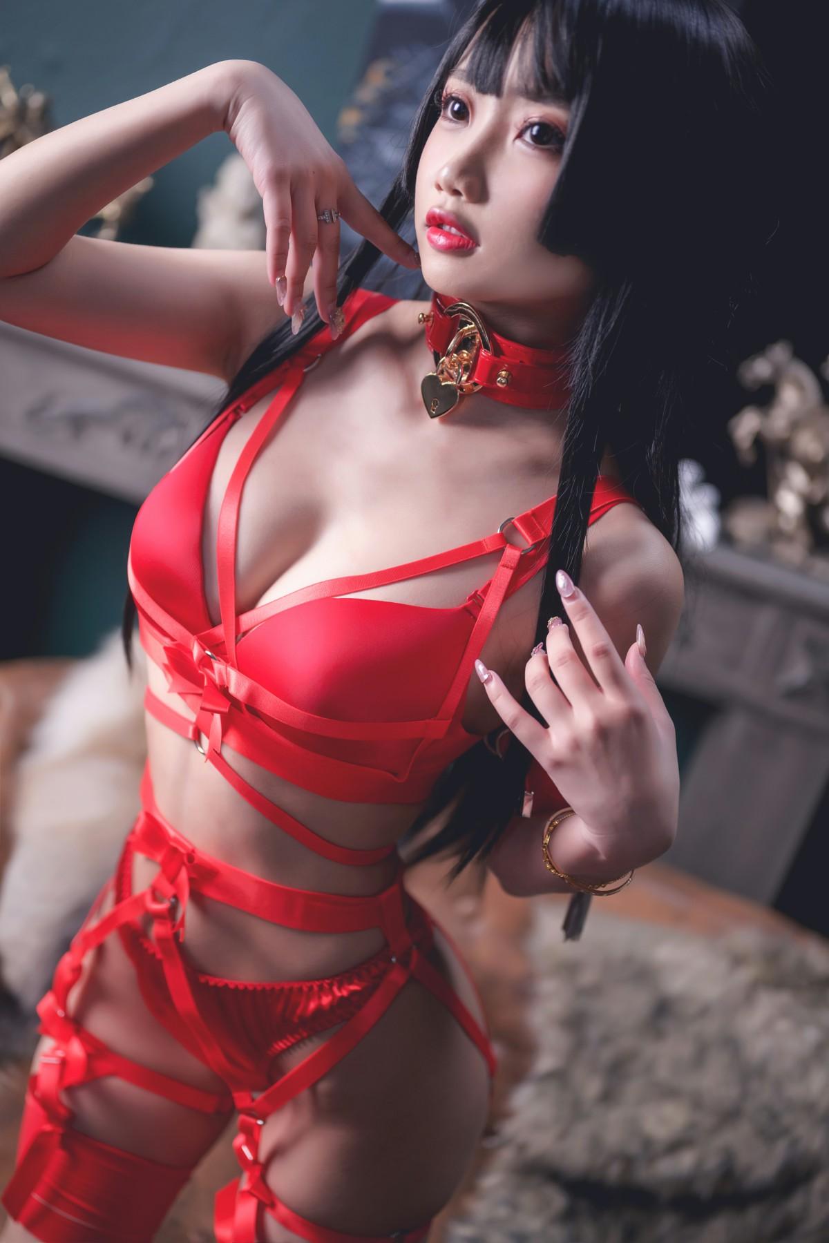 [Cosplay]鬼畜瑶 - 红色束缚 第1张