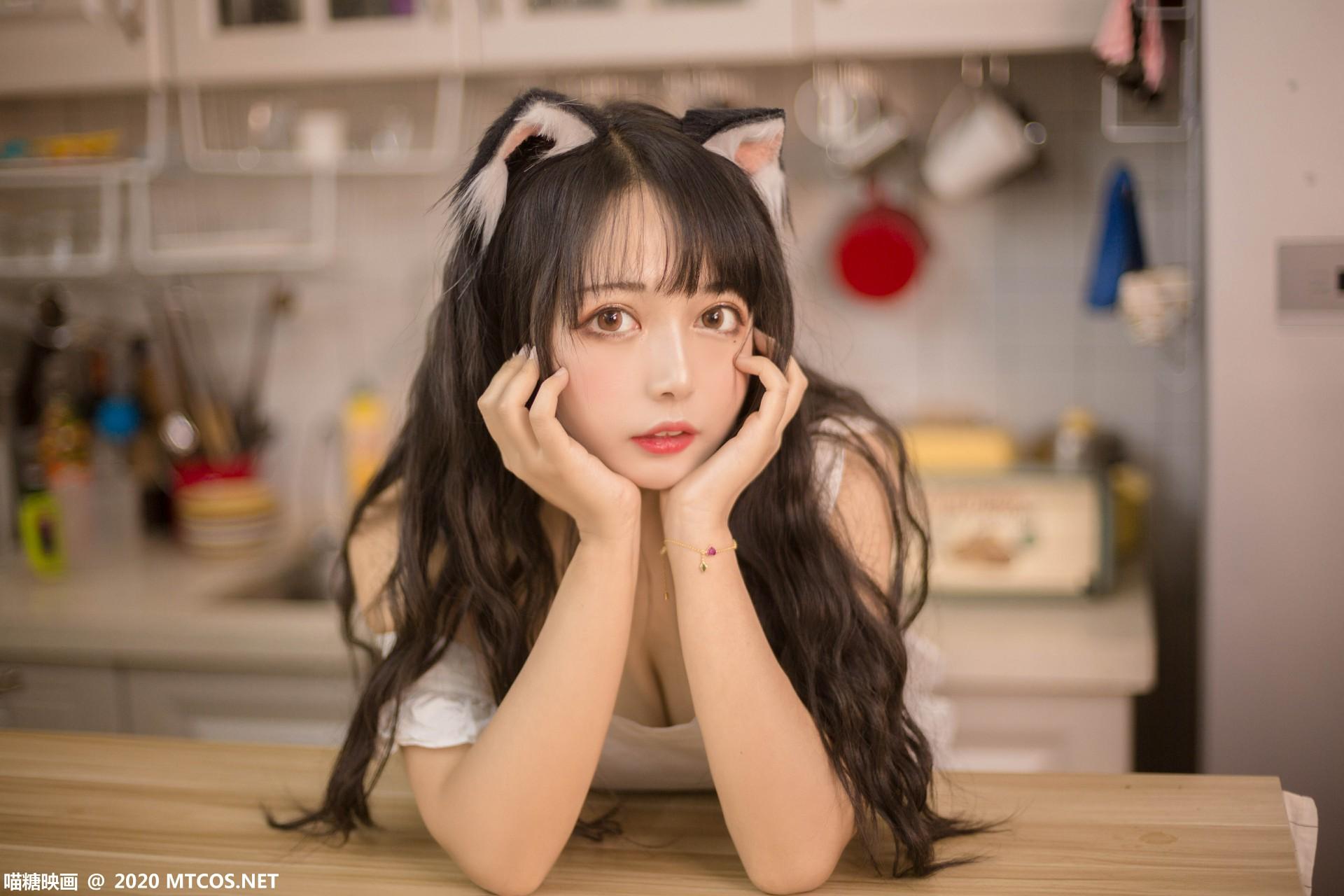 [喵糖映画] 2020.10.13 赏美系列 VOL.296 厨房猫娘 第2张