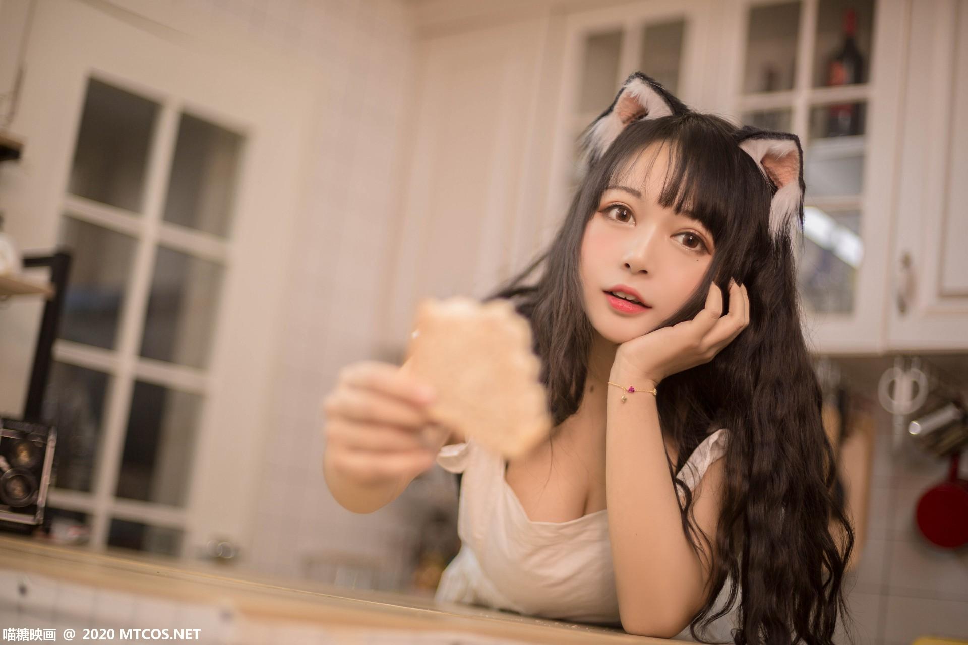 [喵糖映画] 2020.10.13 赏美系列 VOL.296 厨房猫娘 第4张
