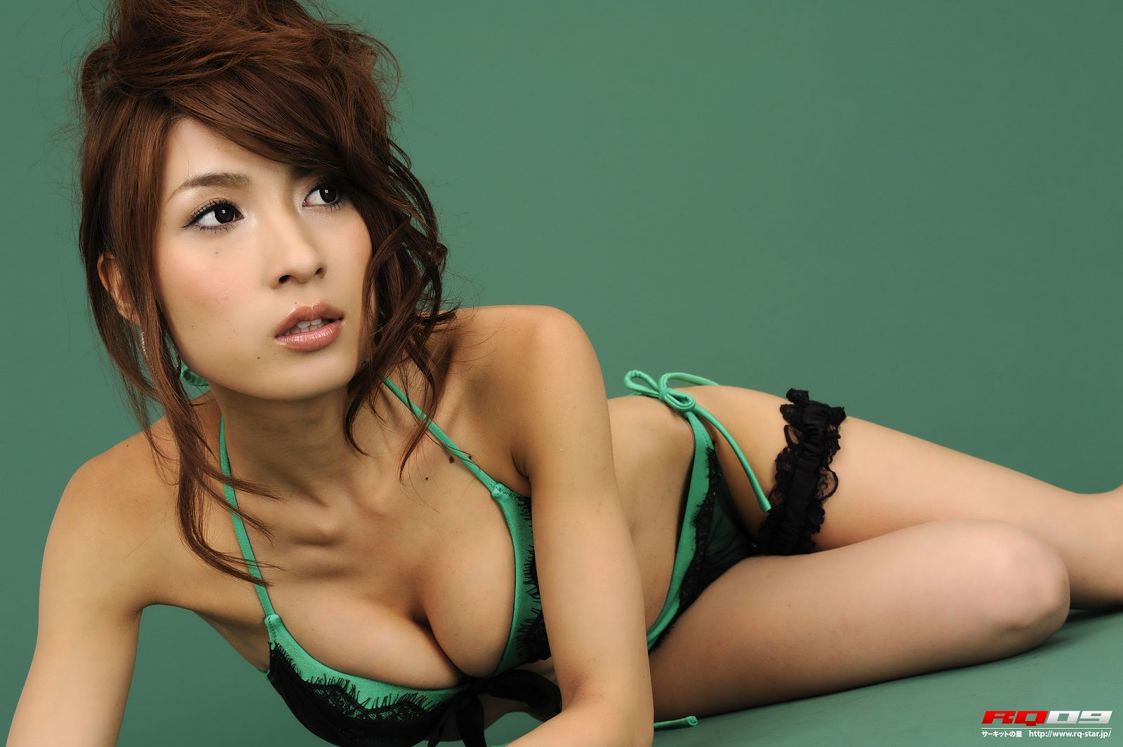 [RQ STAR美女] NO.00147 Chisaki Takahashi 高橋千咲姫 Swim Suits Green[121P] RQ STAR 第3张