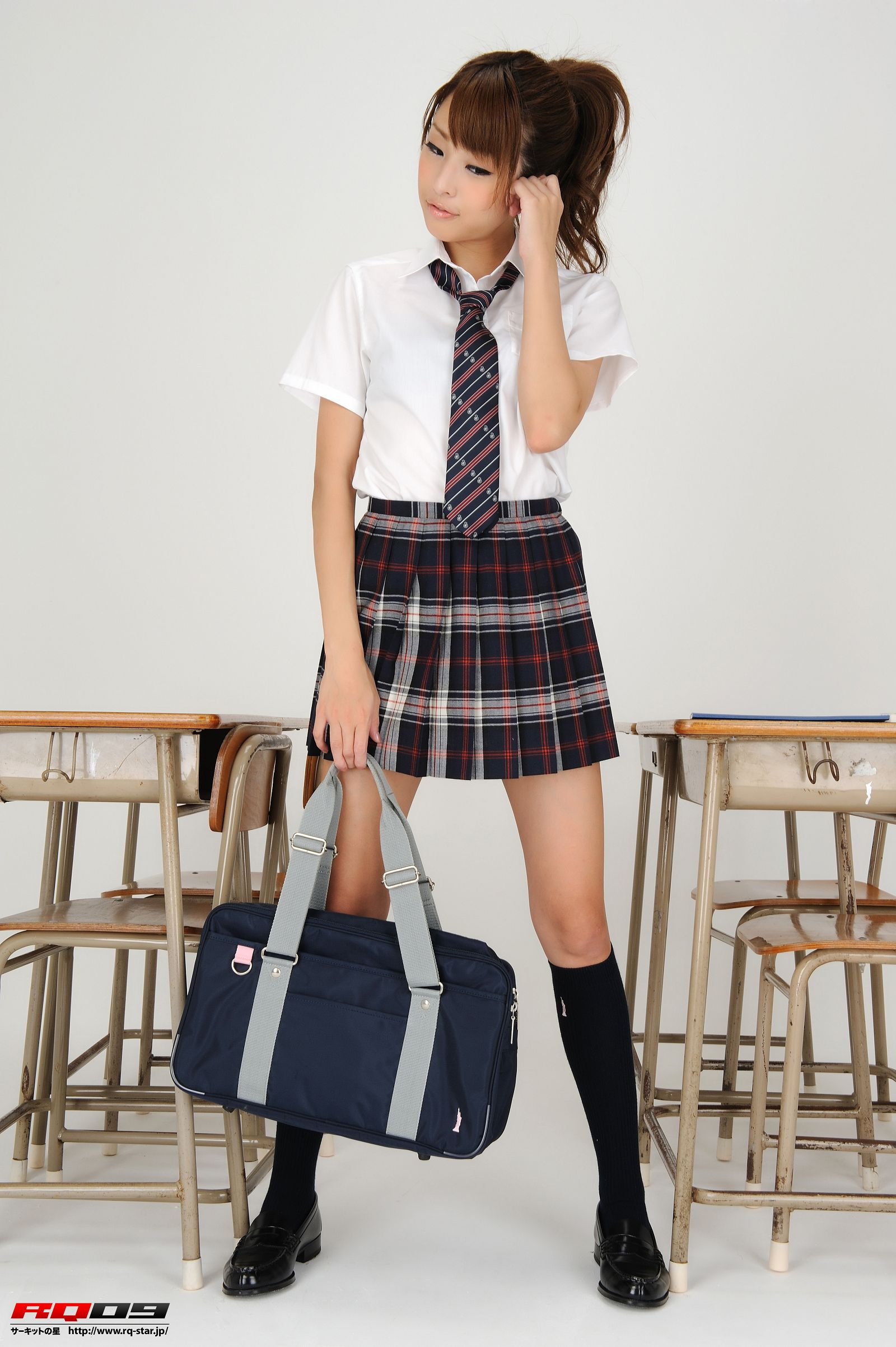 [RQ STAR美女] NO.0184 Mirei Kurosawa 鼪g美怜 Student Style[100P] RQ STAR 第1张